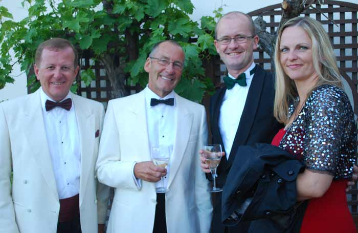 Michael Kennedy and Chairman Tony Clare, Paul and Lucy Kirkbright
